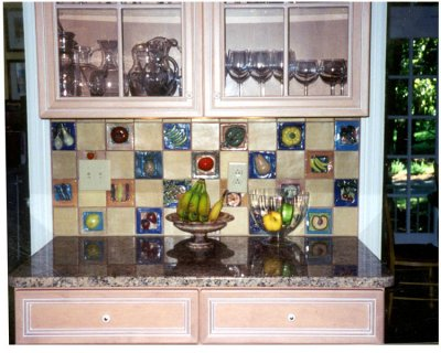 Fruit and vegetable tile kitchen installation