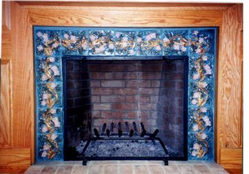 Apple Blossom Mantel
