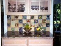 Fruit and vegetable tile kitchen installation